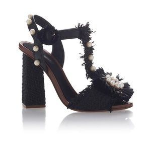 Dolce & Gabbana Pearl Embellished Leather Sandals